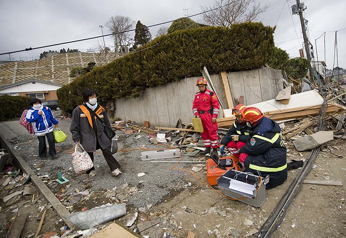 Japan earthquake relief efforts